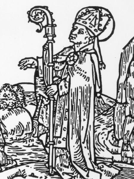 Een houtsnede van Willehad in een Nederduits boek over heiligen dat in 1492 in Lübeck verscheen. Willehad is afgebeeld met bisschoppelijke mijter en kromstaf. De laatste twee jaar en vier maanden van zijn leven was Willehad bisschop van Bremen (Röpcke 1982, p. 97).