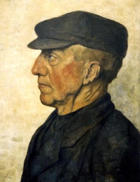 Alphonse Stengelin, Portret Geert Kuiper (1840-1927), olieverf.