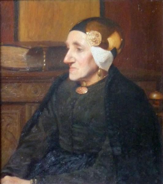 Louis Albert Roessingh, Portret van Geertje Kuiper-Eleveld (1850-1918), olieverf, 1905.