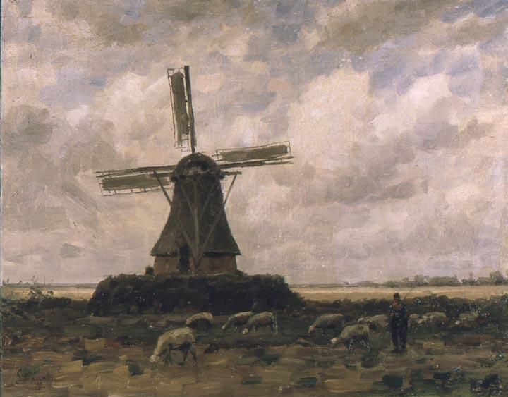 Alphonse Stengelin, Jacobs molen 'Ben Hur', geschilderd tussen 1900 en 1914. Archief Stengelin, Genève.