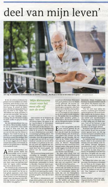 Drenthe Marathon, Dagblad van het Noorden, 26 mei 2018