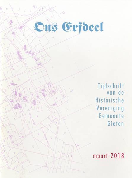 Omslag Ons Erfdeel. Historische Vereniging Gemeente Gieten.