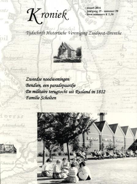 Omslag tijdschrift Kroniek. Historische Vereniging Zuidoost-Drenthe.