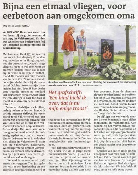 Artikel van Jan Willem Horstman in: Dagblad van het Noorden, 22-05-1917
