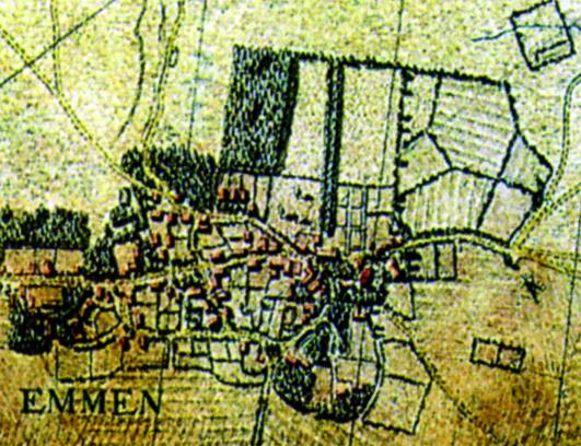 Hottingerkaart (1773-1794) Willingegoed Emmen