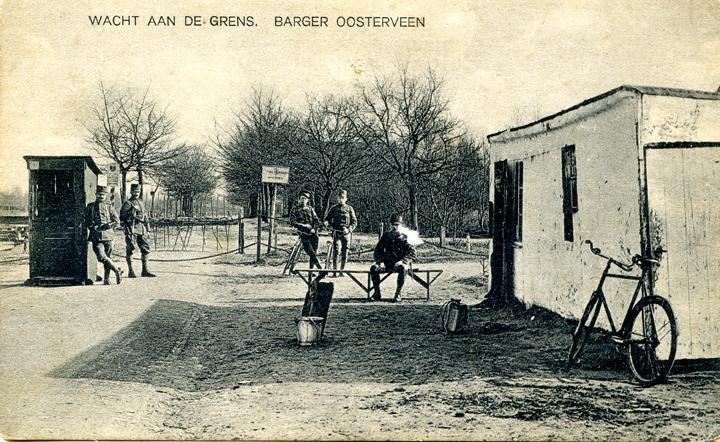 De grensovergang tussen het vroegere Barger-Oosterveen, nu Zwartemeer, en Duitsland