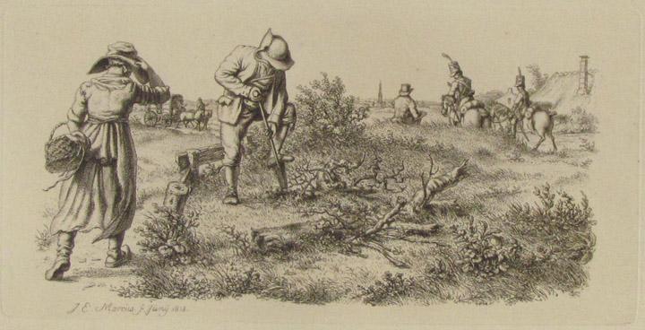 Tekening van Jacob Ernst Marcus (1774-1826) uit 1812