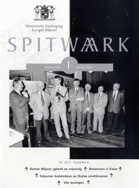 Omslag Spitwa(a)rk. Historische Vereniging Carspel Oderen.