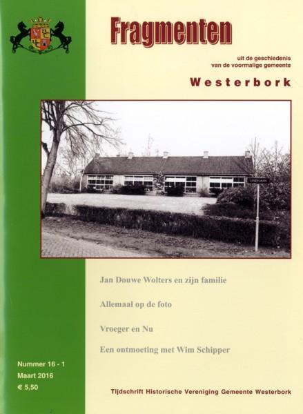 Omslag Fragmenten. Historische Vereniging Gemeente Westerbork.